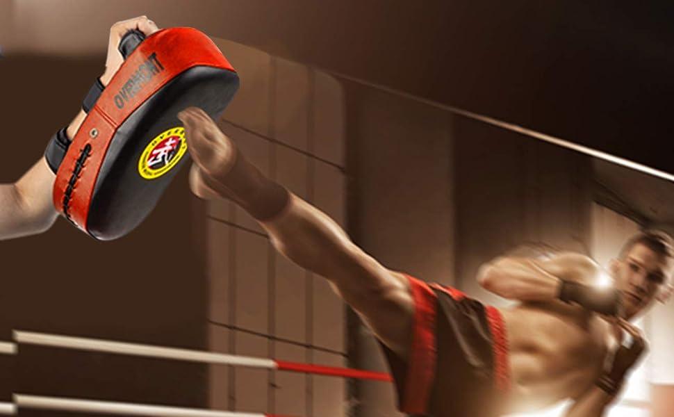 Overmont Taekwondo Kick Pad with Curved Punching Surface Karate Kicking Shiel...