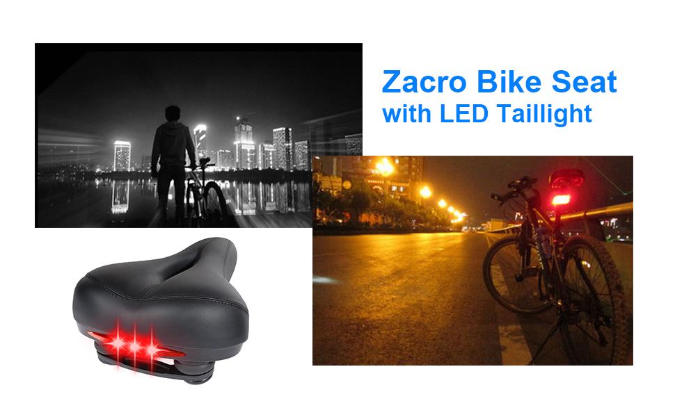 Amazon Zacro Bike Seat With LED Taillight