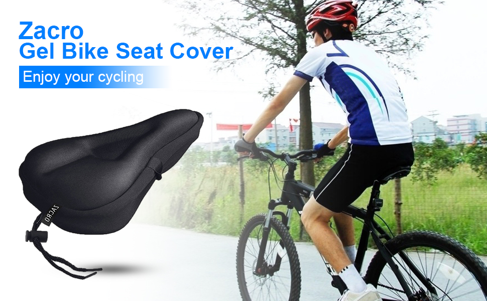 Shan-S Bicycle Seat Cover Comfortable 3D Honeycomb Bike Saddle Cushion,Bicycle Soft Cushion Bicycle Seats for Comfort Cover for Mountain Bikes Road Bikes Men and Women