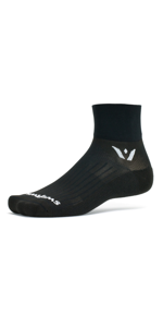 Aspire Two Quarter Crew Running and Cycling Sock