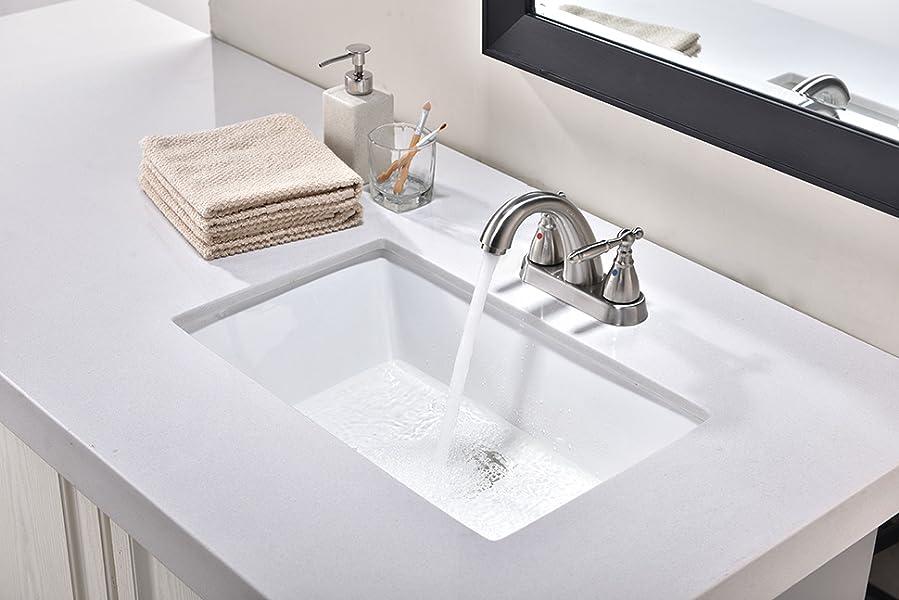 Friho 20.9\'\'x13.6\'\'x7.1\'\' Modern Rectangular Undermount Vanity Sink ...