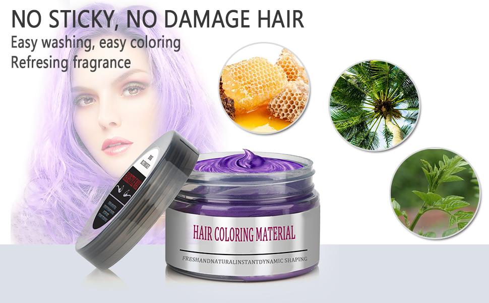 Amazon.com: BMK Purple Color Hair Wax Matte Hairstyle Pomades ...