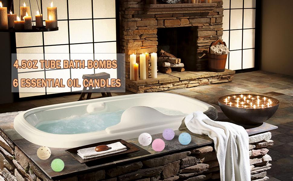 Amazon.com : BMK Bath Bombs Gift Set 6PCS x 4.5oz Dried Flower Bath ...