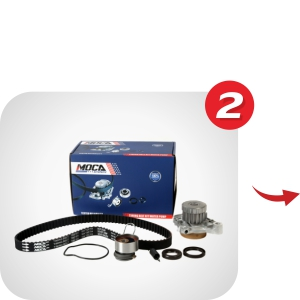 MOCA timing belt kit combines with either oil pump or water pump to give you one-step shopping experiences.