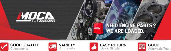 MOCA Timing Belt Water Pump Kit for 1999-2005 Subaru Impreza & Subaru Forester & 2000-2005 Subaru Outback 2.2L 2.5L EJ22 EJ25 Engine