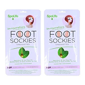 spearmint tea tree oil invigorating foot sockies