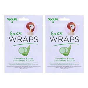 cucumber aloe face wraps