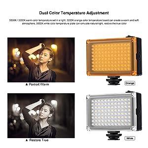 led video light camera