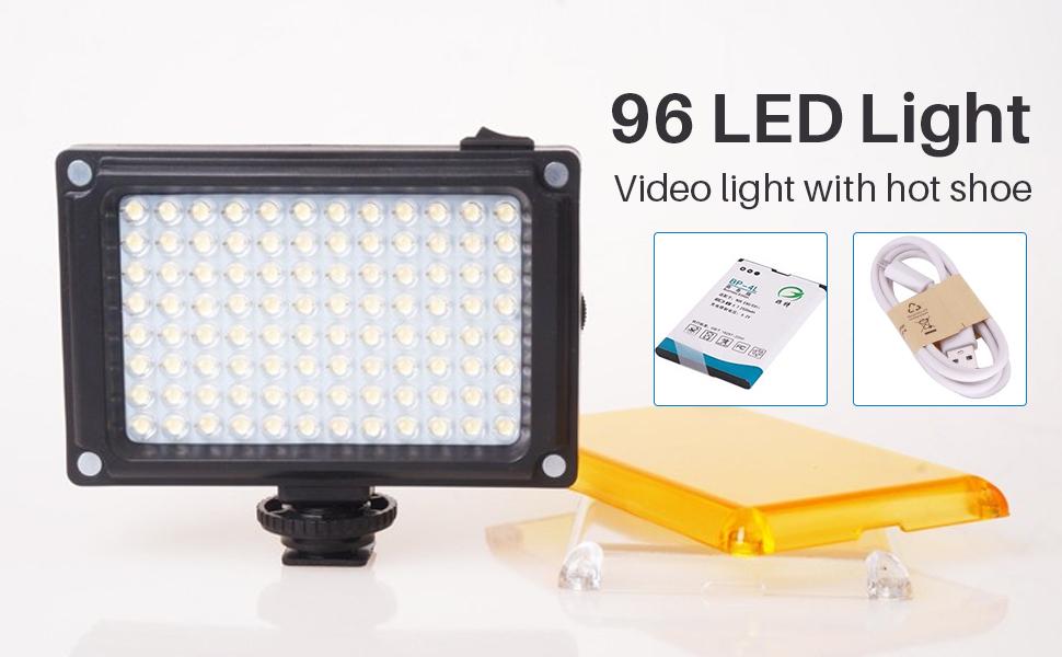 on camera video light