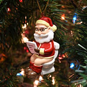 Tree Buddees Santa On The Throne Inappropriate Christmas Ornaments 6229