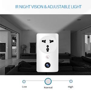 IR Night Vision amp; Adjustable light