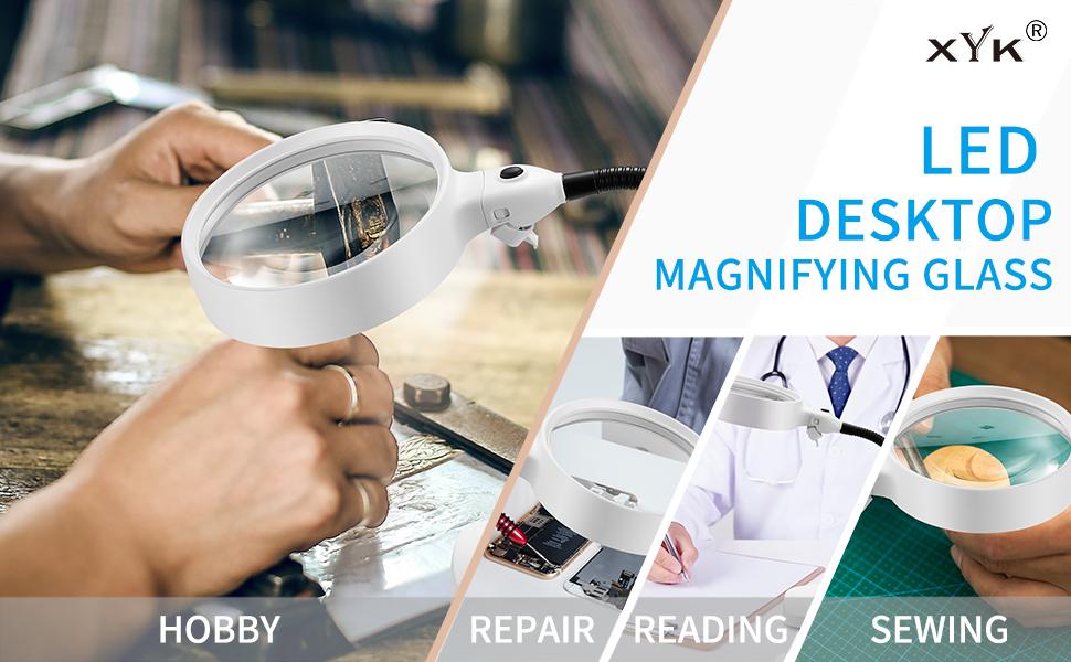 XYK desktop magnifier for hobby,repair,reading