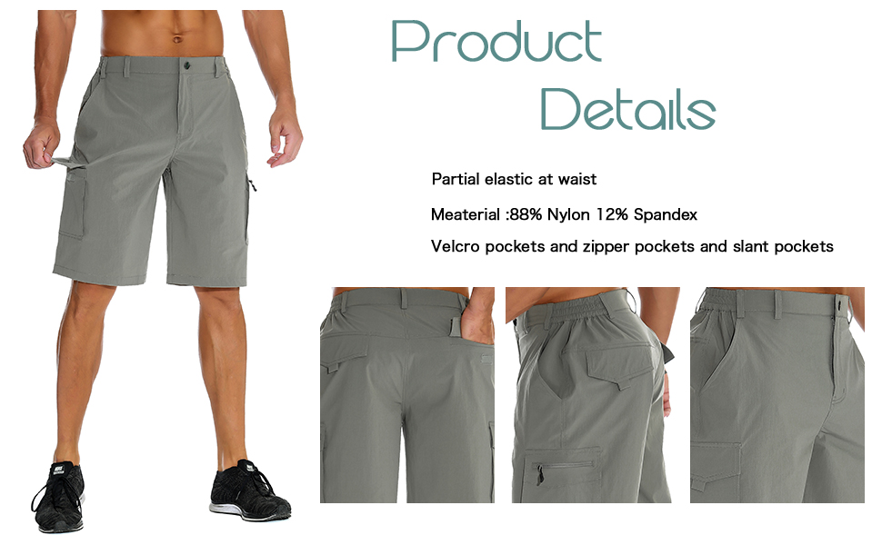 99e6f8a8f6 These hiking cargo shorts ,featuring quick dry, water-resistant, light  weight and good air permeability,which is more comfortable.
