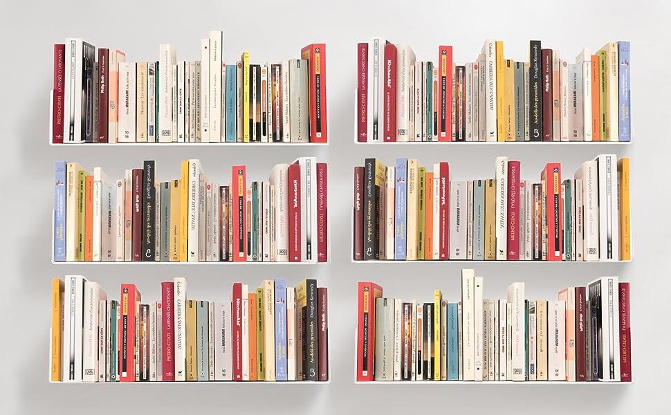 Amazoncom Teebooks Bookshelves Set Of 6 Steel White 236
