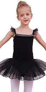 Girls Ballet Tutu Leotard Dress