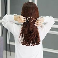love pattern hair clips