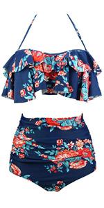 Boho Flounce Falbala Bikini Set