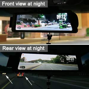 AUTO-VOX X1 Mirror Dash Cam Backup Camera 9.88