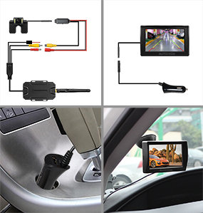 auto vox m1w wireless backup camera kit 0 lux super night vision rear view camera with ip 68. Black Bedroom Furniture Sets. Home Design Ideas