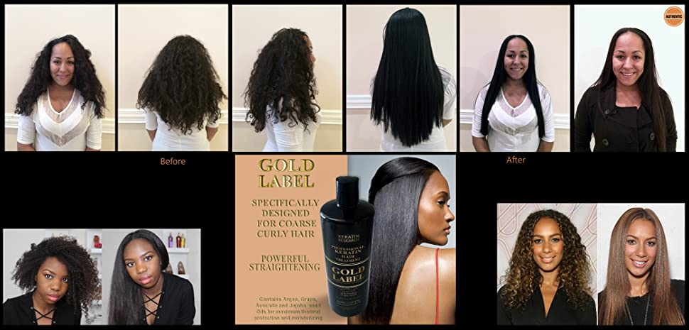 Amazon Com Gold Label Professional Brazilian Keratin Blowout Hair