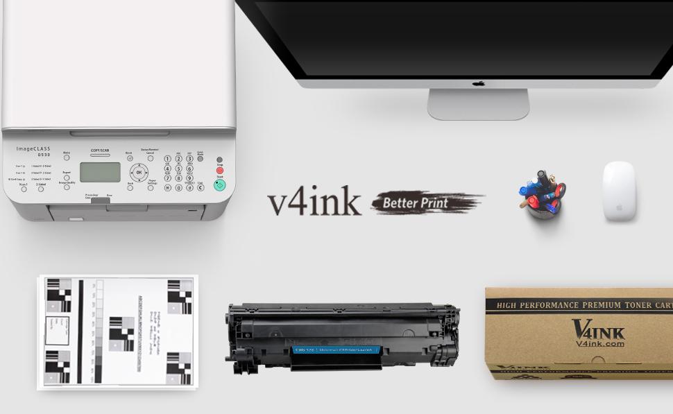 V4ink 2 Pack Compatible Canon 128 Toner Hp Ce278a 78a Toner