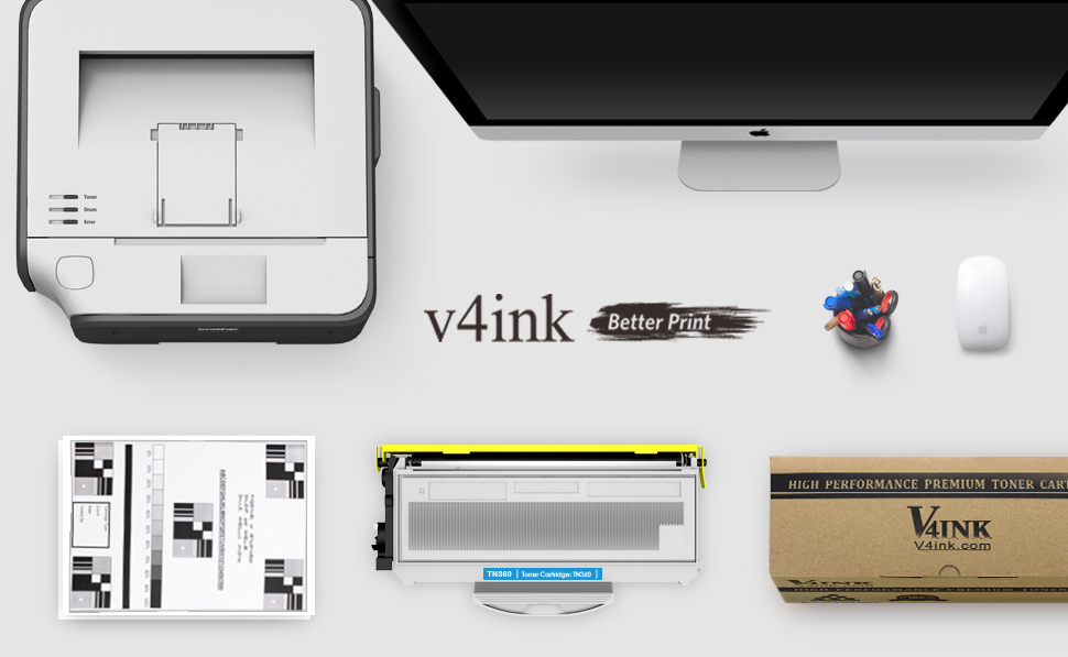 Amazon.com: v4ink? Nuevo Compatible con Brother TN360 TN330 ...