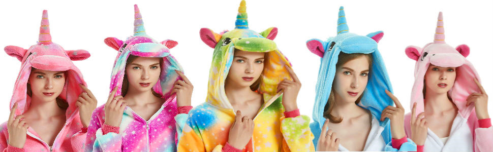 Adult Onesies For Women Girls Unicorn Costume Halloween Christmas Animal Pajamas