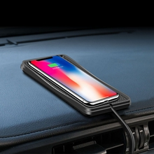 """Silver Car Wireless Charger /""""S14 Surpass/"""" for Dashboard and air Outlet"""