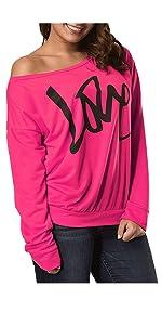 80s hot pink sweatshirts