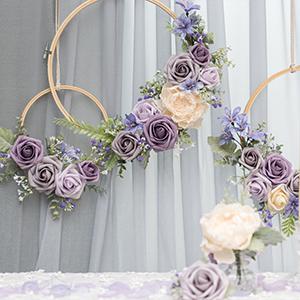 Purple Hoop Wreath