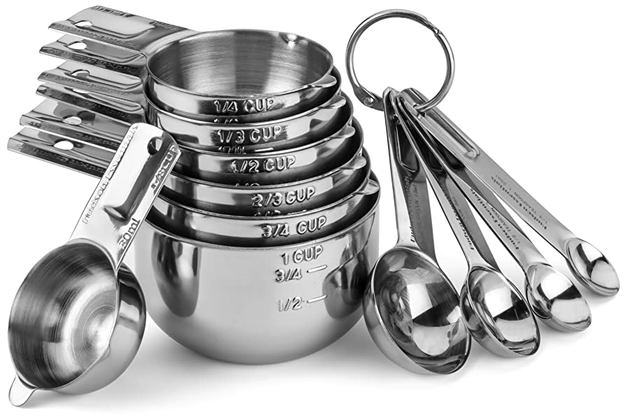 hudson essentials stainless steel measuring cups and spoons set 11 piece stackable. Black Bedroom Furniture Sets. Home Design Ideas