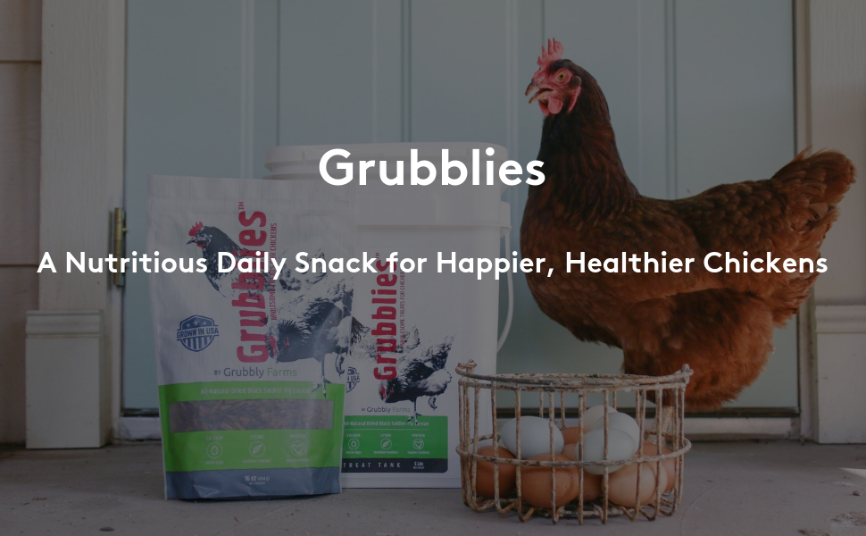 Grubblies - A Nutritious Daily Snack for Happier Healthier Chickens
