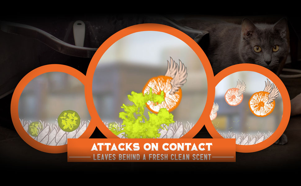Angry Orange Enzyme Pet Odor Eliminator Stain Deodorizer Cat Dog Urine Carpet Cleaner