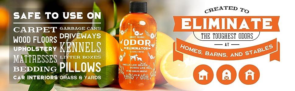 Angry Orange Pet Odor Eliminator Stain Deodorizer Cat Dog Urine Carpet Cleaner