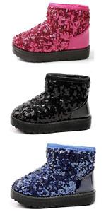 Boy's Girl's Sequin Snow Boots