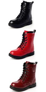 Boy's Girl's Waterproof Outdoor Combat Boots