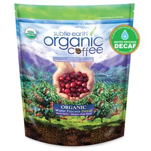 Subtle earth organic decaffeinated coffee