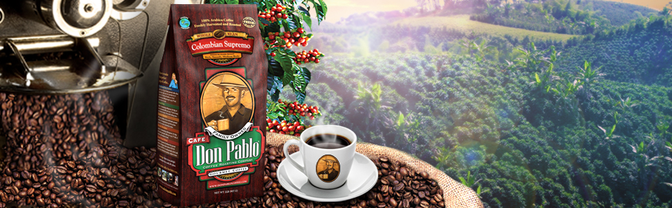 don pablo colombian coffee whole beans