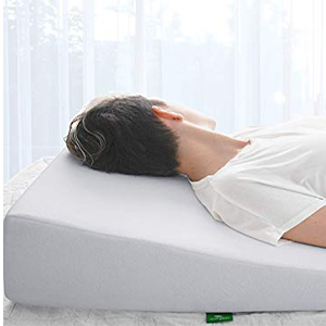 bed wedge pillow with memory foam