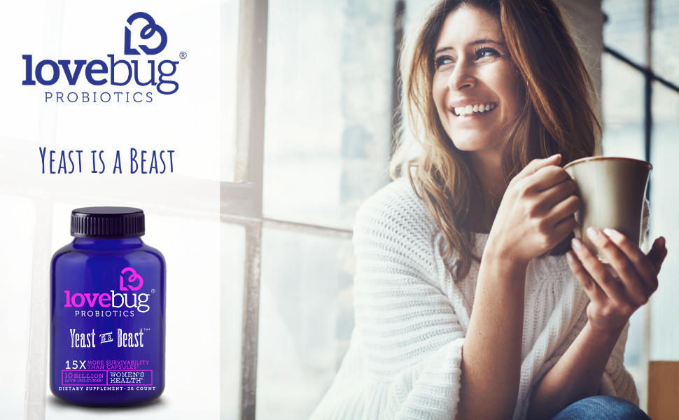 LoveBug Probiotics, Yeast is a Beast, Women's Health, UTI