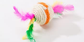 Linen feather toy