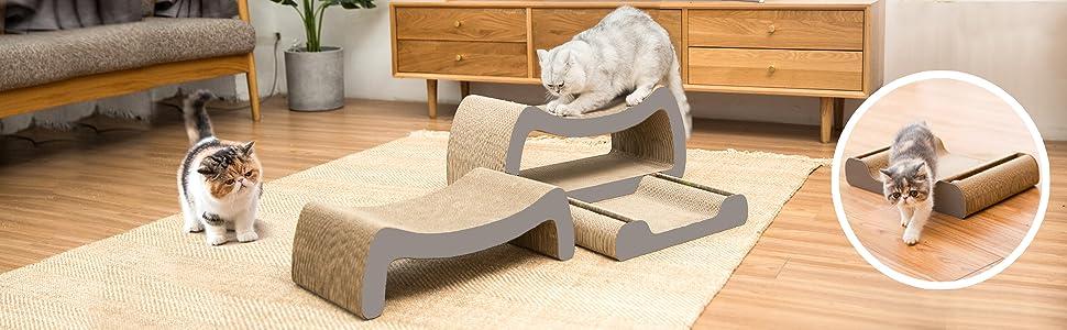 3-in-1 cat scratcher