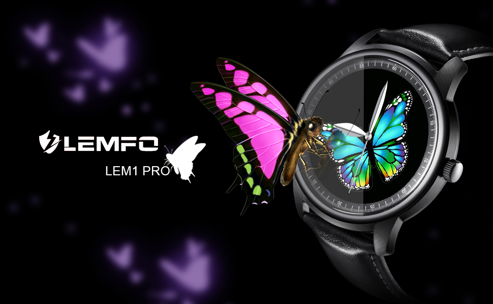 Amazon.com: Smart Watch LEMFO LEM1 Pro Super Slim Bluetooth ...