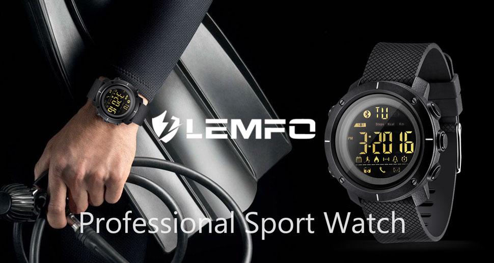 17fabf8fa61 Amazon.com  LEMFO LF19 Digital Men s Smart Watch IP68 Waterproof ...