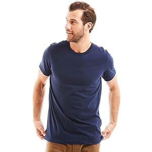 e2e395be Classic Mens Tshirt Design Blank Plain Tee Short Sleeve Work Undershirt  Lightweight Casual