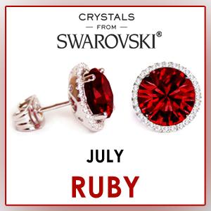 swarovski stud earrings july birthstone earrings fashion jewelry sets birthday gifts for women cz