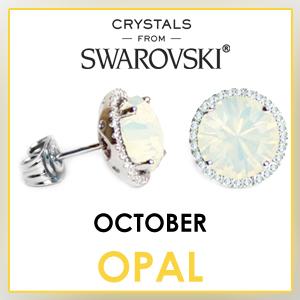swarovski stud earrings october birthstone earrings fashion jewelry sets birthday gifts for women cz