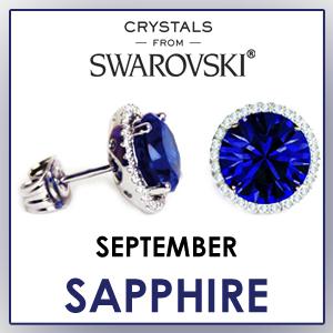 swarovski stud earrings september birthstone earrings fashion jewelry sets birthday gifts for women