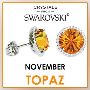swarovski stud earrings november birthstone earrings fashion jewelry sets birthday gifts for women