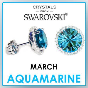 swarovski stud earrings march birthstone earrings fashion jewelry sets birthday gifts for women